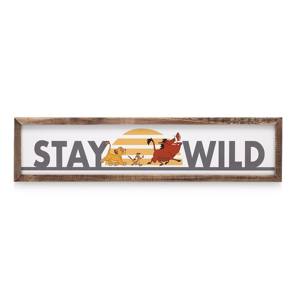 The Lion King Framed Wood Wall Décor – ''Stay Wild''