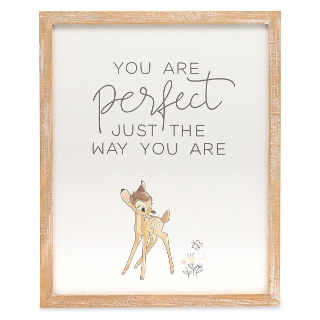 Bambi Framed Wood Wall Décor – ''You Are Perfect''