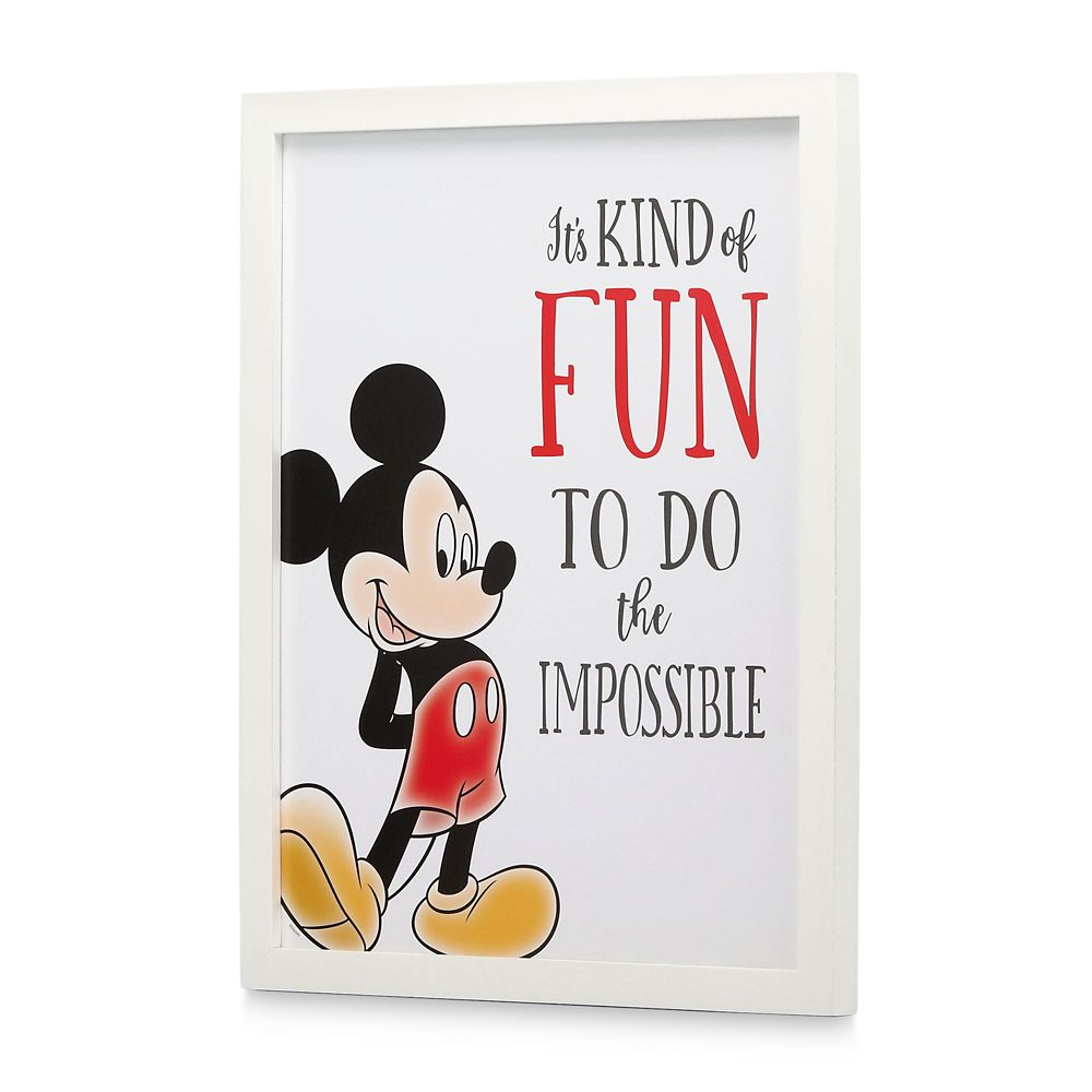 Mickey Mouse Framed Wood Wall Décor – ''Do the Impossible''
