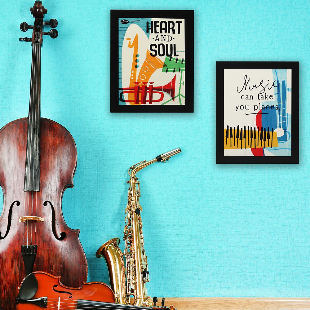 ''Music Can Take You Places'' Flat Wood Wall Art – Soul