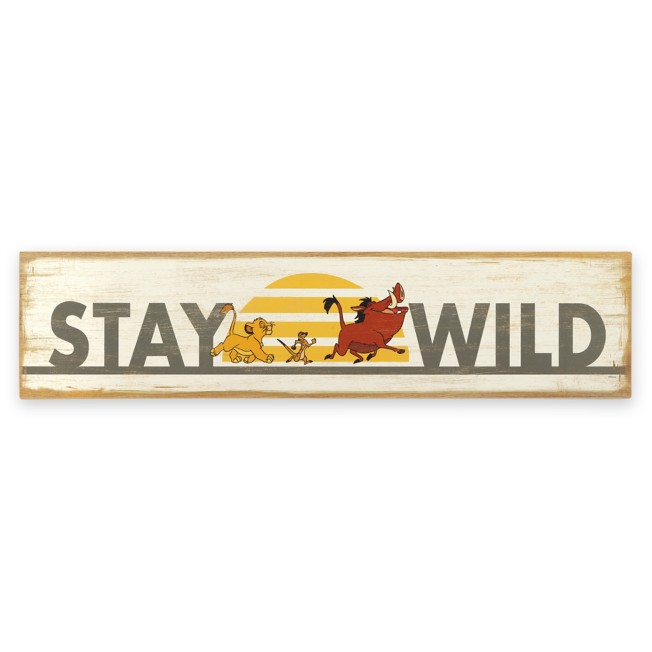 The Lion King ''Stay Wild'' Wood Wall Décor