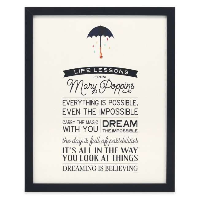 Mary Poppins ''Life Lessons'' Framed Wood Wall Décor