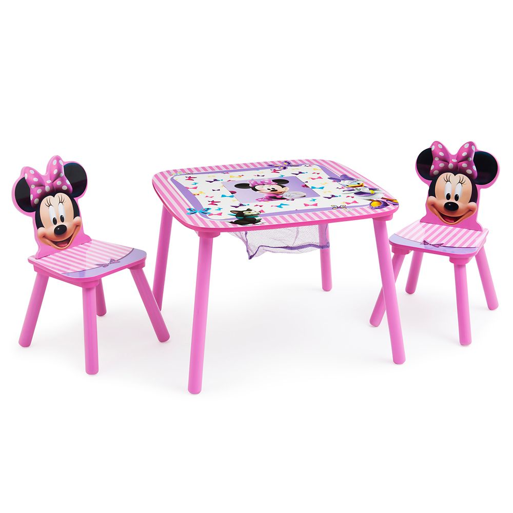 Minnie Mouse Table and Chair Set with Storage
