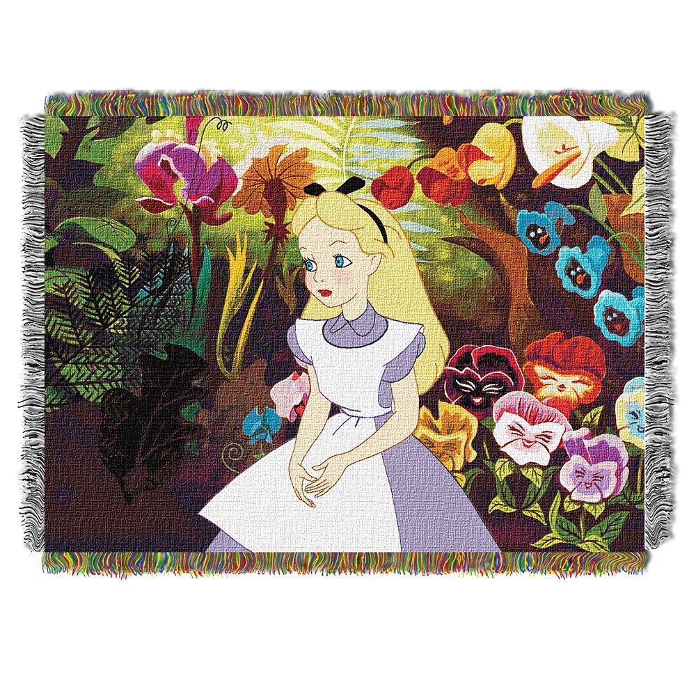Alice in Wonderland Woven Tapestry Throw Official shopDisney
