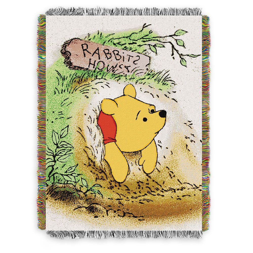 Winnie the Pooh Woven Tapestry Throw Blanket