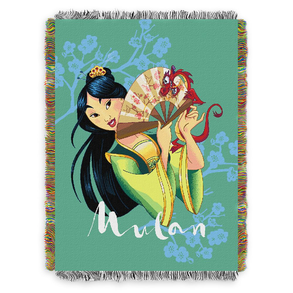 Mulan Woven Tapestry Throw Blanket Official shopDisney