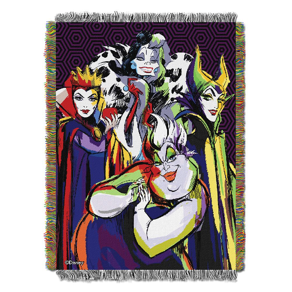 Disney Villains Woven Tapestry Throw