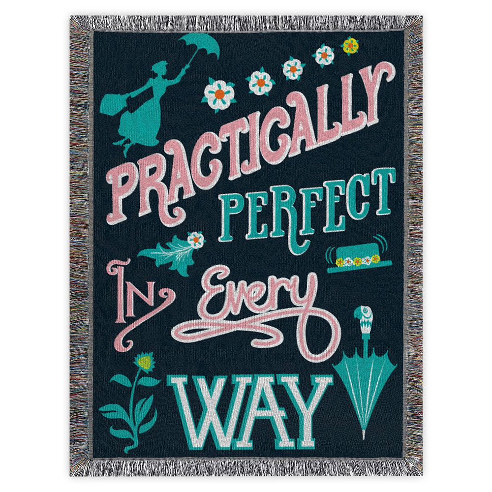 Mary Poppins Woven Tapestry Throw