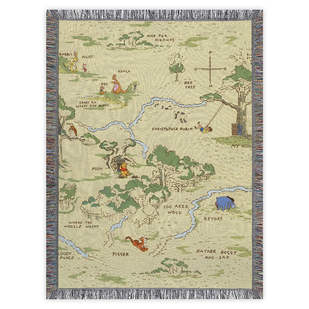 Winnie the Pooh Woven Tapestry Throw