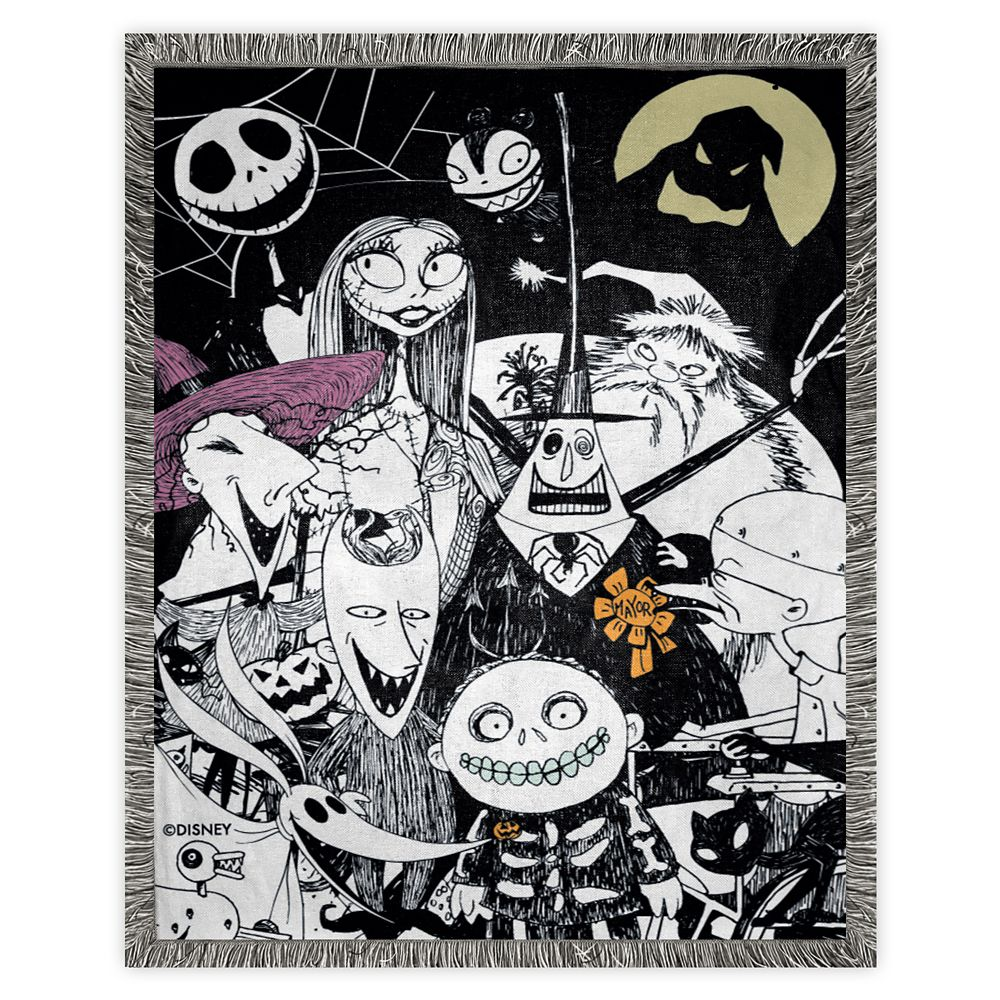 The Nightmare Before Christmas Woven Tapestry Throw