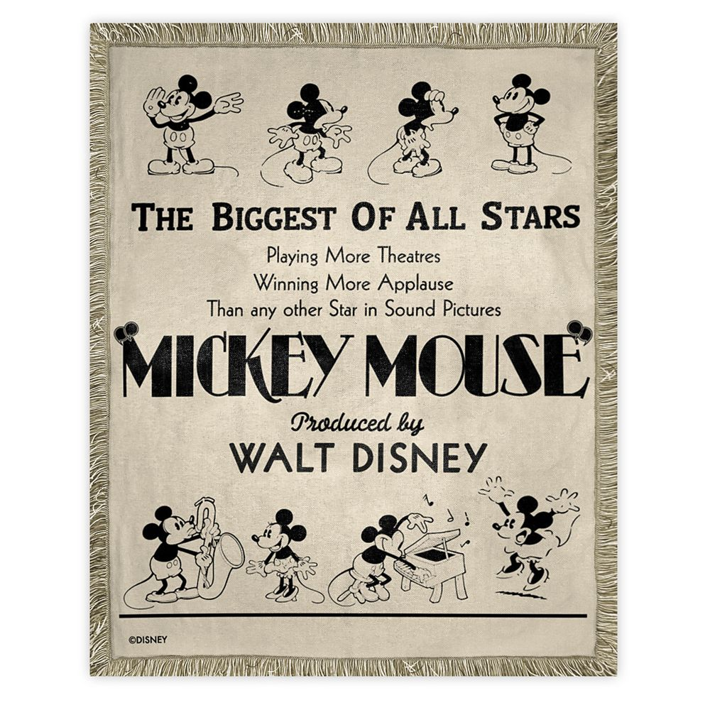 Mickey Mouse Woven Tapestry Throw Official shopDisney