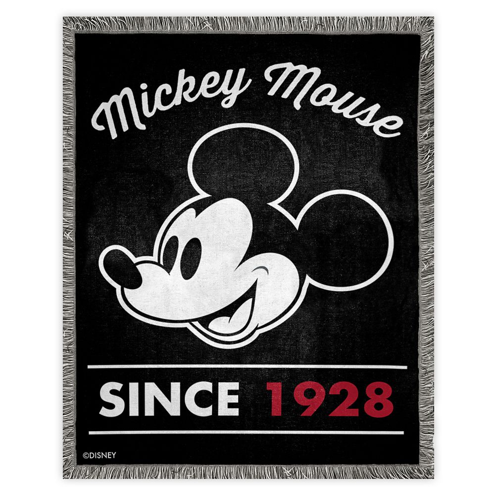 Mickey Mouse ''Since 1928'' Woven Tapestry Throw