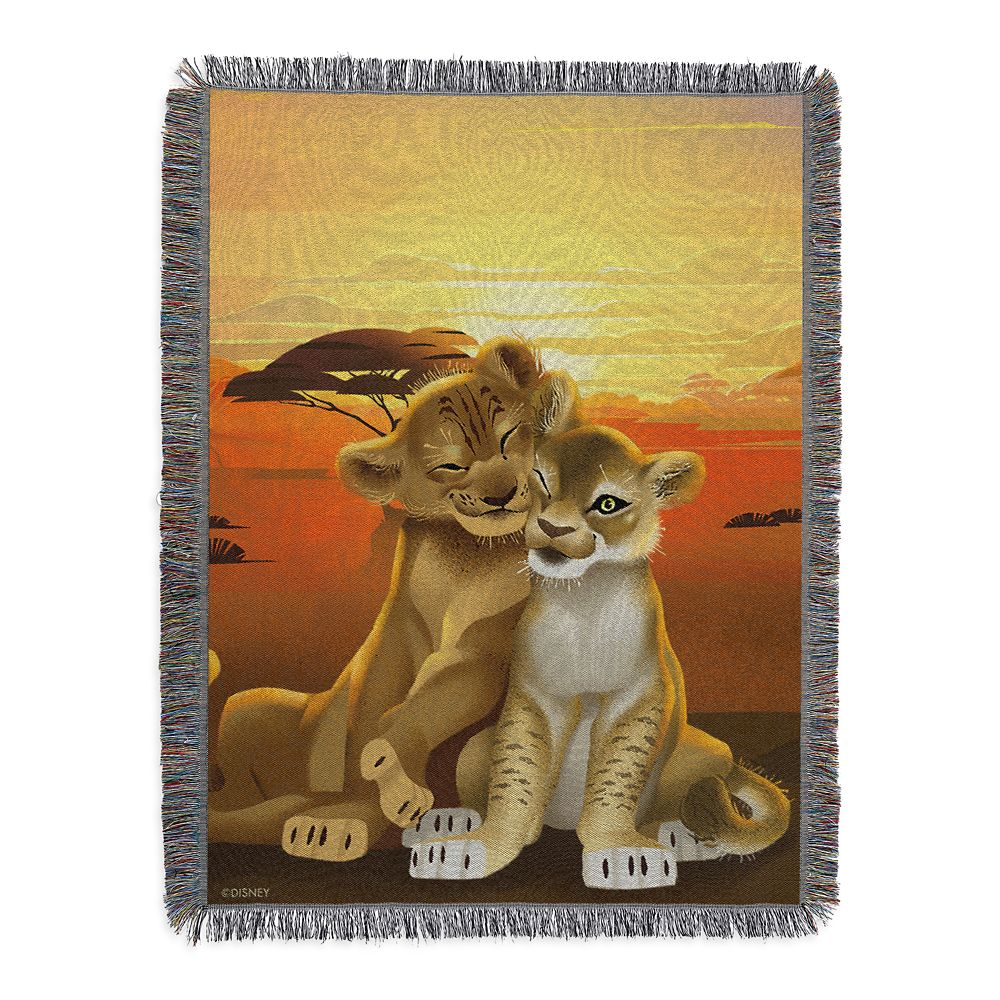 Simba and Nala Woven Tapestry Throw Blanket – The Lion King 2019 Film