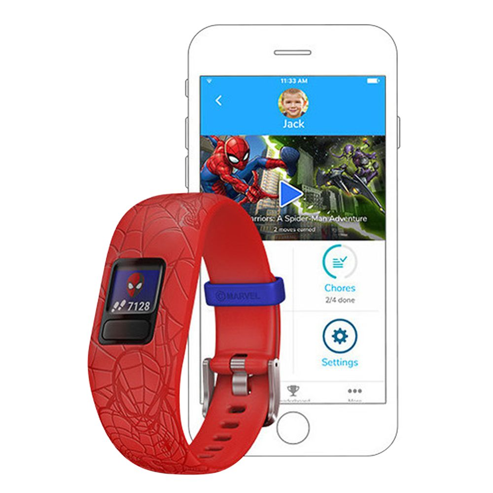 Spider-Man Garmin vívofit jr. 2 Activity Tracker for Kids with Adjustable Band – Red