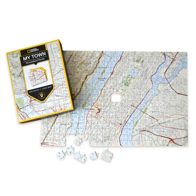 National Geographic My Town Personalized Puzzle – Map Scale: 1:26,000
