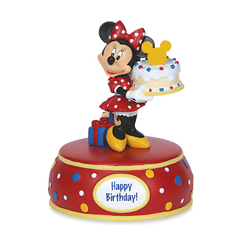 Minnie Mouse with Birthday Cake Musical Figurine by Disney Showcase