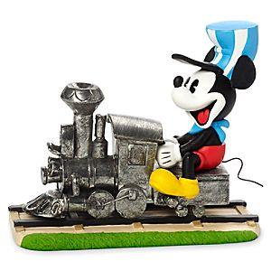 Mickey Mouse Riding Train Figurine by Precious