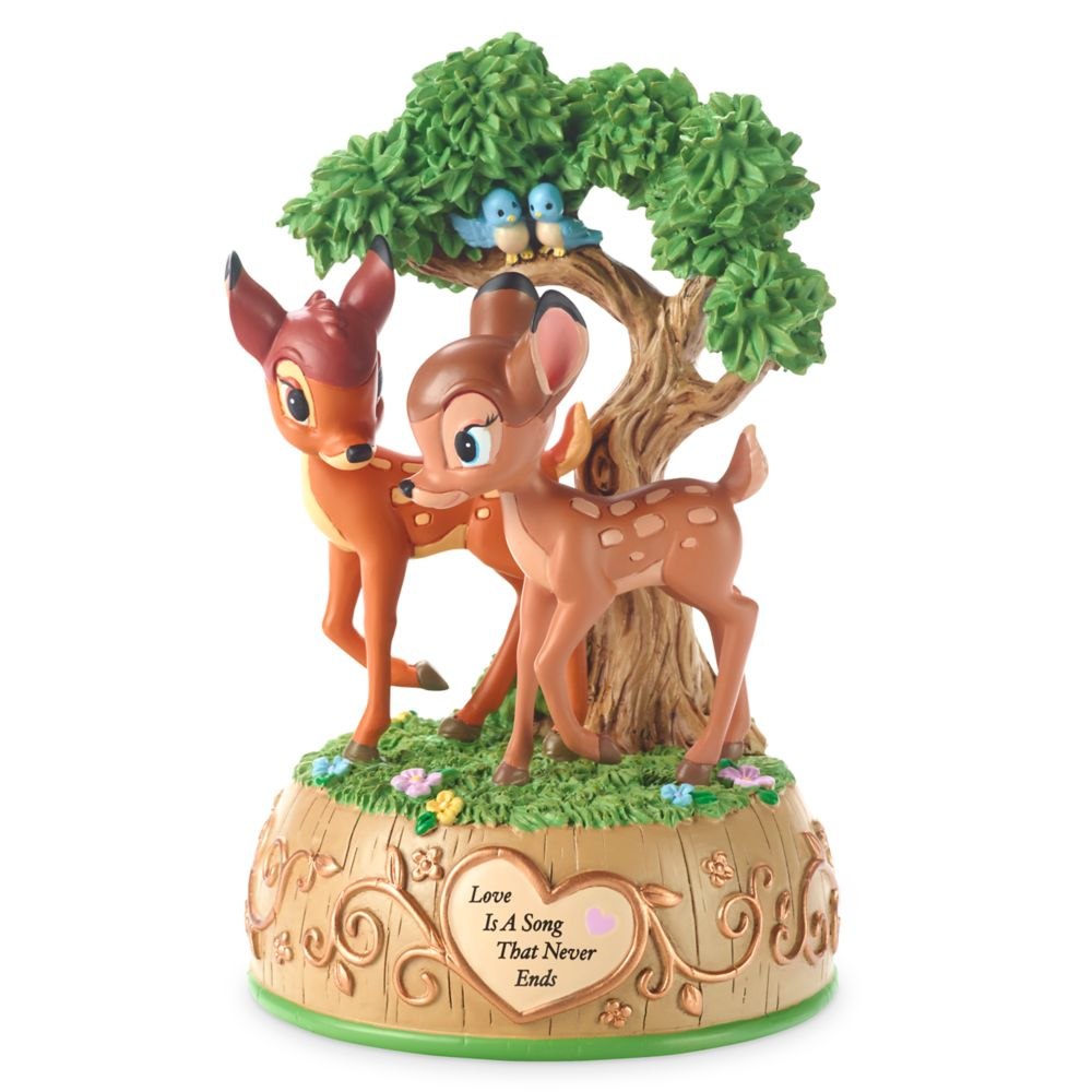 Bambi and Faline Music Box Figurine by Precious Moments