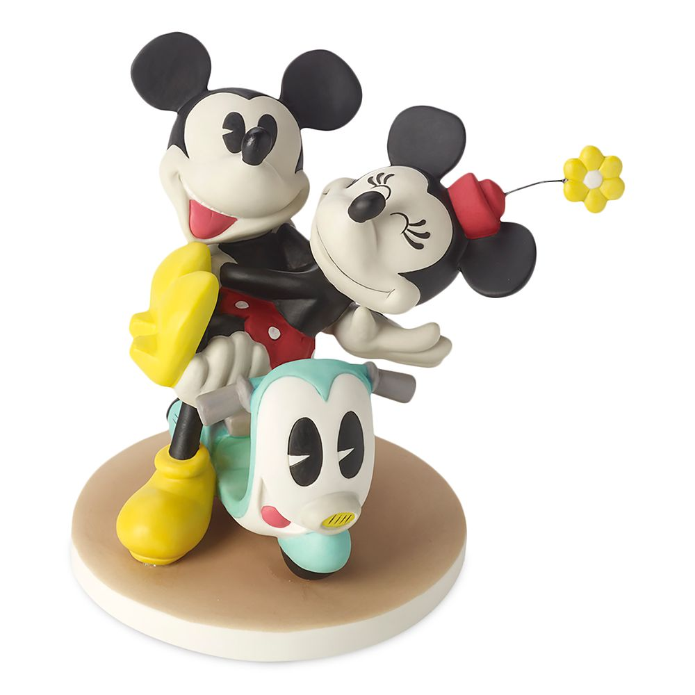 Mickey and Minnie Mouse on Scooter Figurine by Precious Moments Official shopDisney
