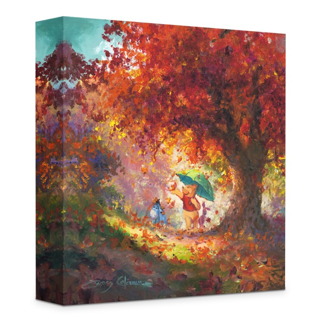 ''Autumn Leaves Gently Falling'' Giclée on Canvas by James Coleman