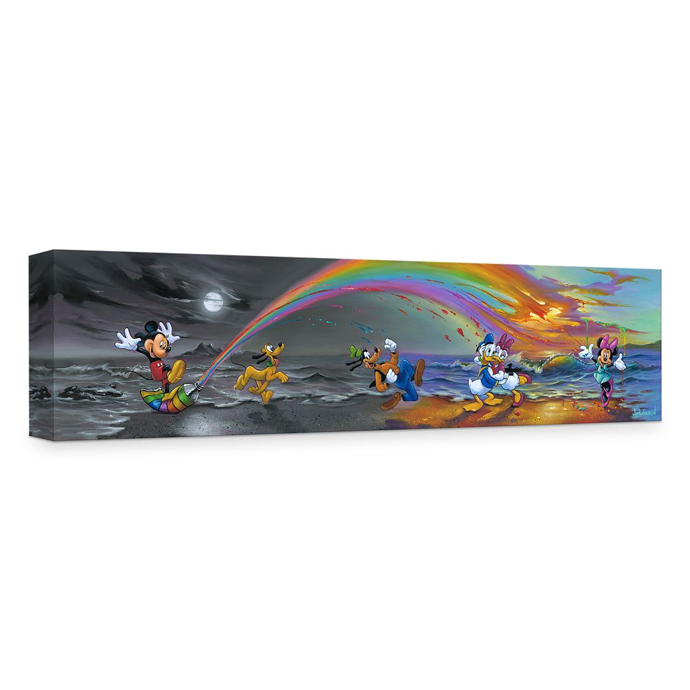 ''Mickey Makes Our Day'' Giclée on Canvas by Jim Warren Official shopDisney