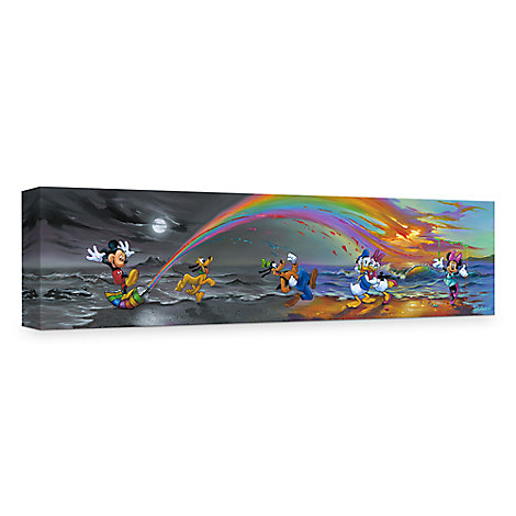 ''Mickey Makes Our Day'' Giclée on Canvas by Jim Warren