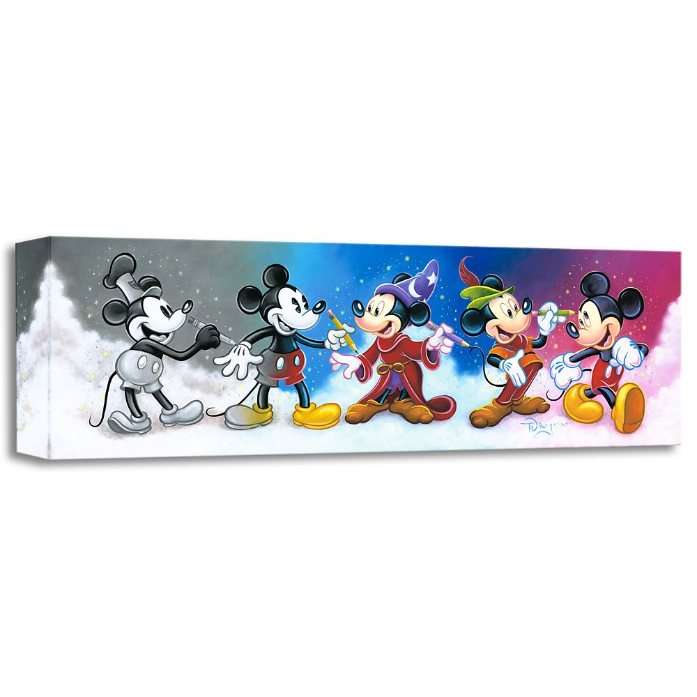 ''Mickey's Creative Journey'' Giclée on Canvas by Tim Rogerson