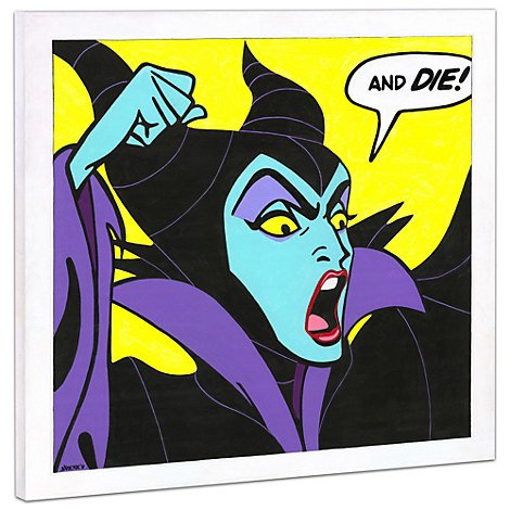 Maleficent ''Birthday Wishes'' Giclée on Canvas by Tennessee Loveless