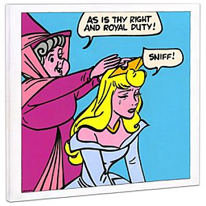 Sleeping Beauty ''Suck It Up'' Giclée on Canvas by Tennessee Loveless