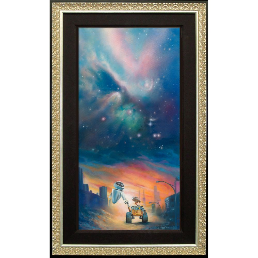 WALL-E ''The Depth of Space and Love'' Giclée by John Rowe