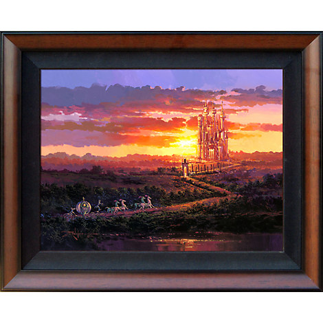 Cinderella ''Castle at Sunset''	Giclée on Canvas by Rodel Gonzalez