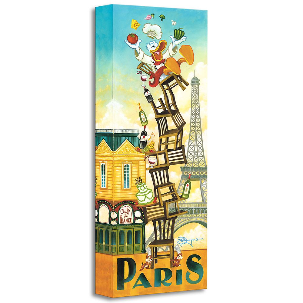 ''Donald's Paris'' Giclée by Tim Rogerson Official shopDisney