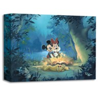 Mickey Mouse and Minnie ''Family Camp Out'' Giclée by Rob Kaz