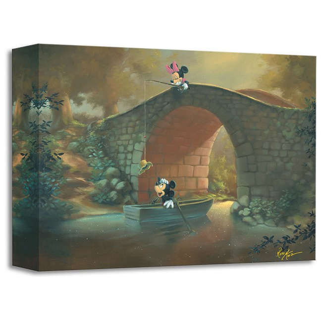Mickey Mouse and Minnie ''Hooked on You'' Giclée by Rob Kaz