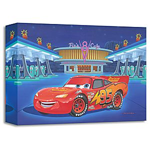 """Lightning McQueen """"Pit Stop at Flo's"""" Giclée by Manny Hernandez"""