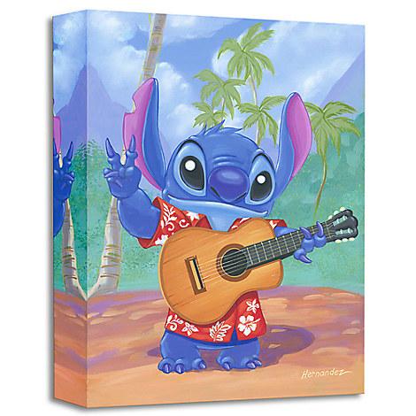Stitch ''Warm Aloha'' Giclée by Manuel Hernandez