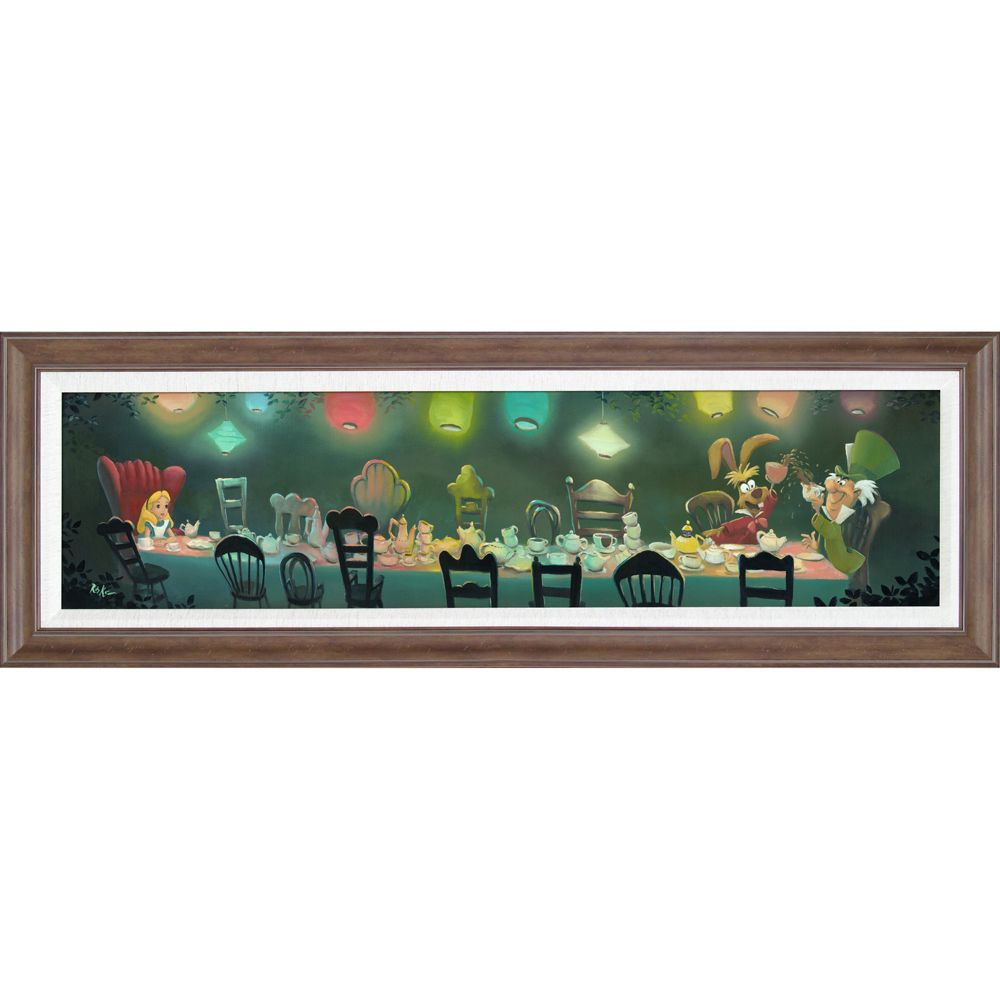"Alice in Wonderland ""A Mad Tea Party"" Gicle by Rob Kaz Official shopDisney"