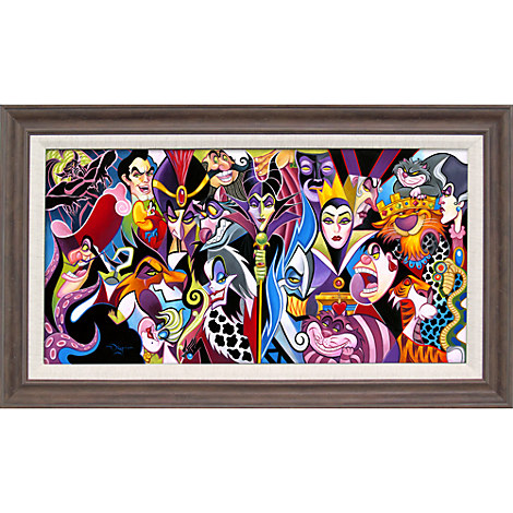 Disney Villains ''All Their Wicked Ways'' Giclée by Tim Rogerson