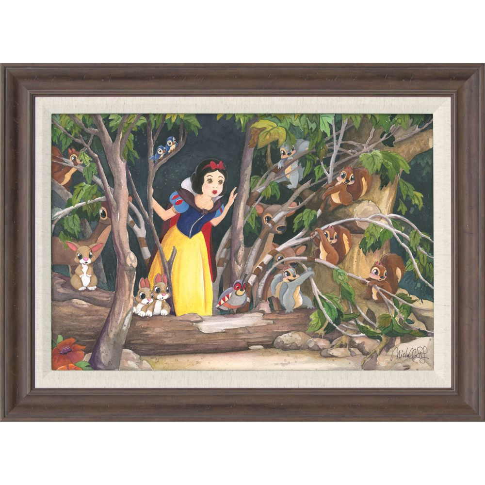 Snow White ''Snow White's Discovery'' Giclée by Michelle St.Laurent Official shopDisney