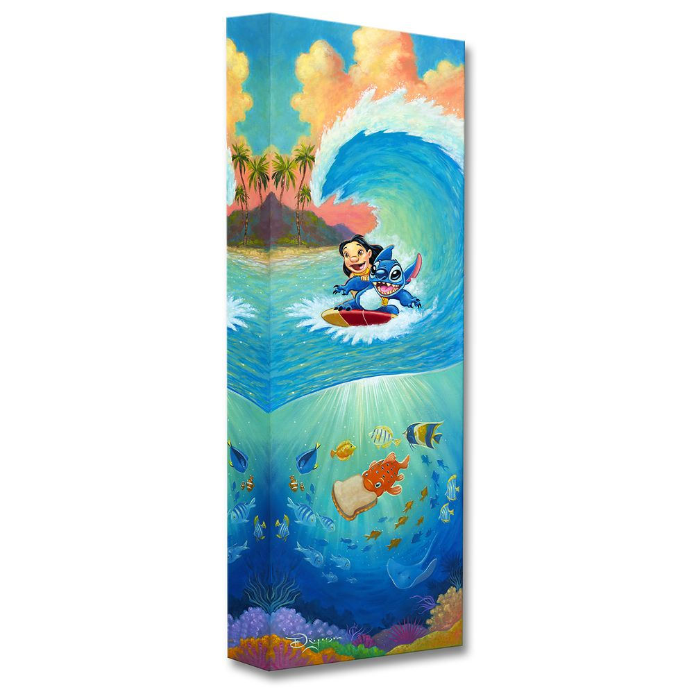 Lilo & Stitch ''Hawaiian Roller Coaster'' Giclée by Tim Rogerson