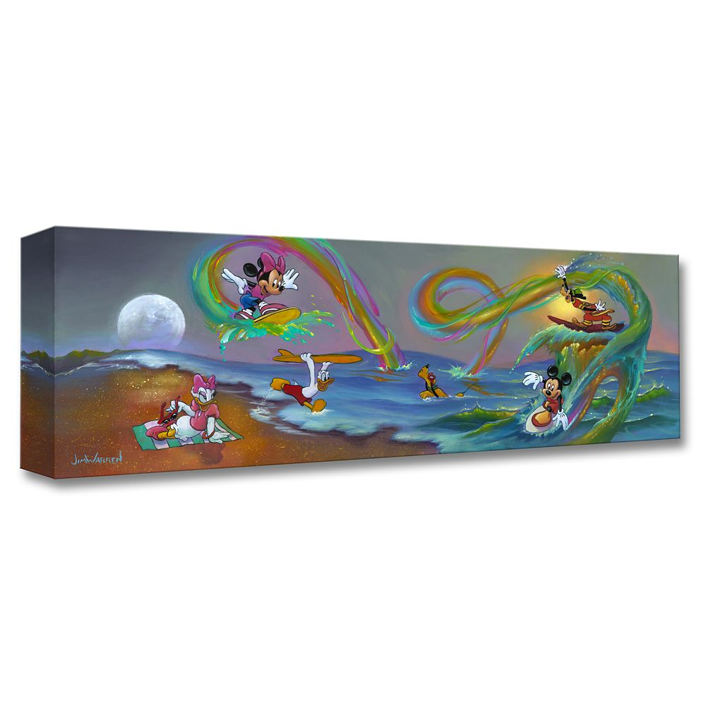 Mickey Mouse and Friends ''Mickey's Crazy Wave'' Giclée by Jim Warren