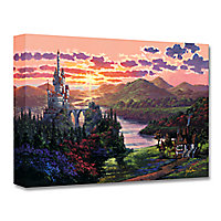 Beauty and the Beast ''The Beauty in Beast's Kingdom'' Giclée on Canvas by Rodel Gonzalez