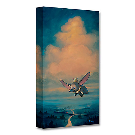 Dumbo ''Joy of Flight'' Giclée on Canvas by Rob Kaz