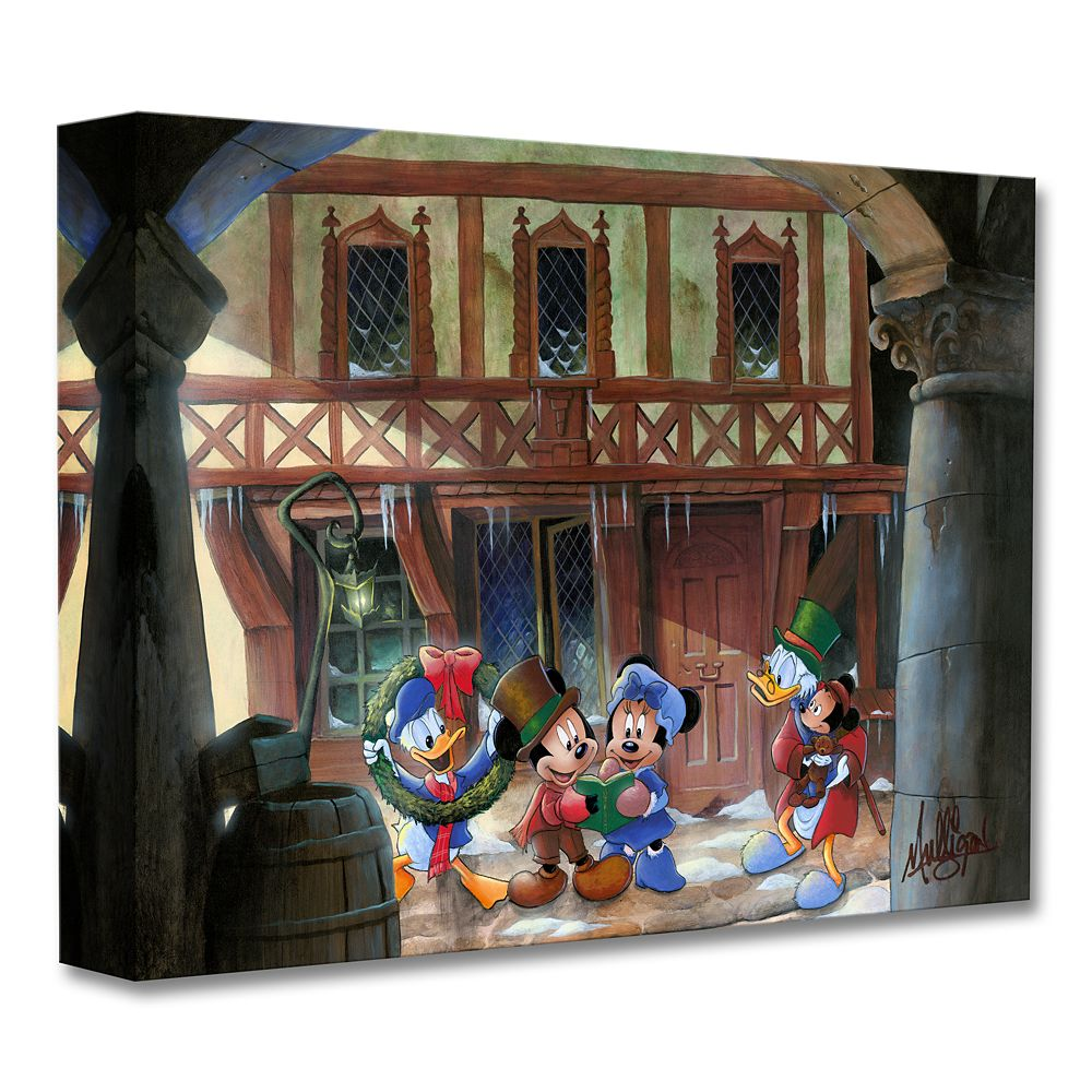 Mickey's Christmas Carol ''Joyful Tidings'' Giclée on Canvas by James C. Mulligan Official shopDisney