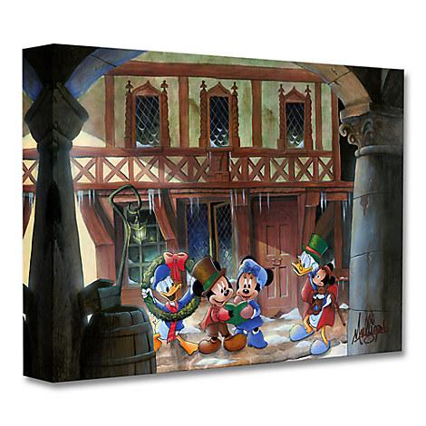 Mickey's Christmas Carol ''Joyful Tidings'' Giclée on Canvas by James C. Mulligan