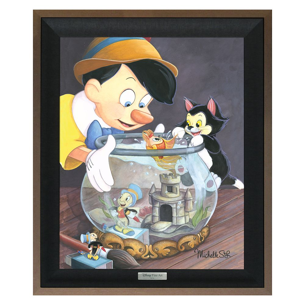 Pinocchio ''A Kiss From Cleo'' Giclée on Canvas by Michelle St.Lauren Official shopDisney