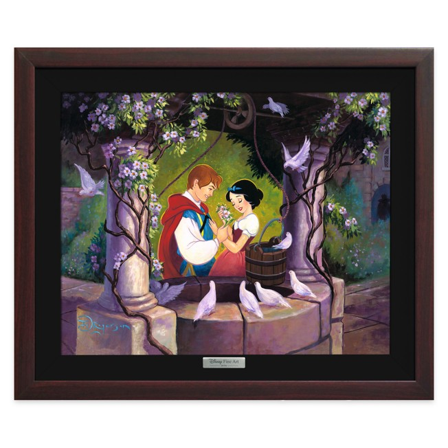 Snow White ''The Wishing Well'' Giclée on Canvas by Tim Rogerson