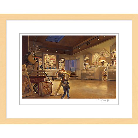 ''Woody in Al's Display Room'' Framed Giclée on Paper by Randy Berrett - Limited Edition