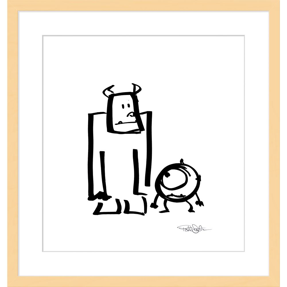 ''Sullivan and Mike'' Framed Giclée on Paper by Pete Docter – Limited Edition