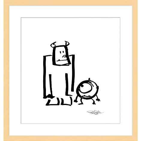 ''Sullivan and Mike'' Framed Giclée on Paper by Pete Docter - Limited Edition